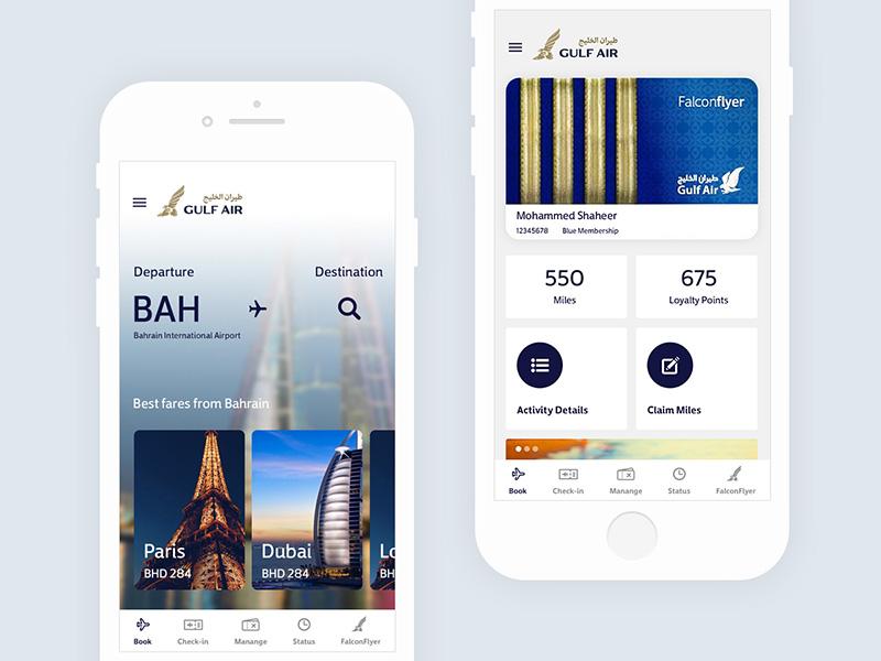 选择你的目的地!12款机票App设计