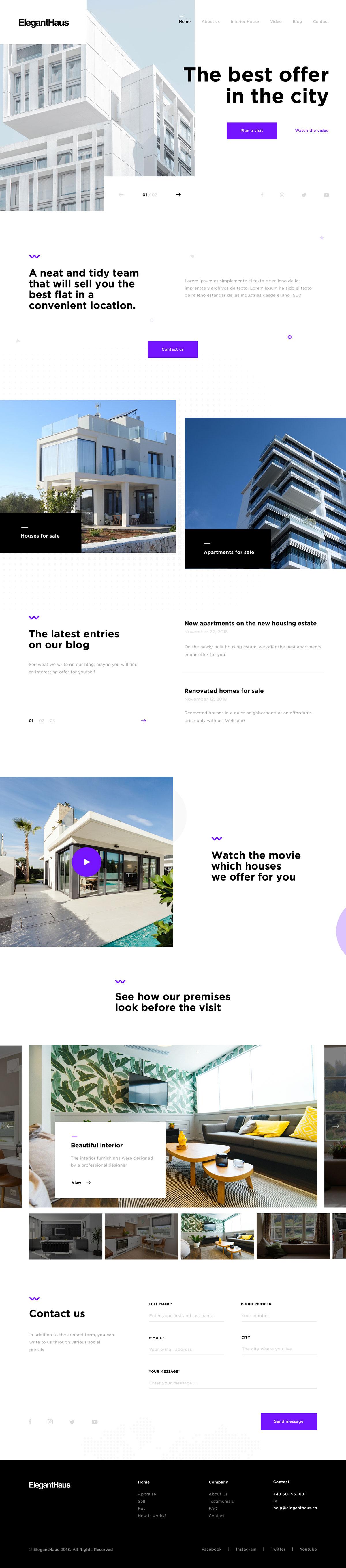 地产建筑类网页的12款设计案例