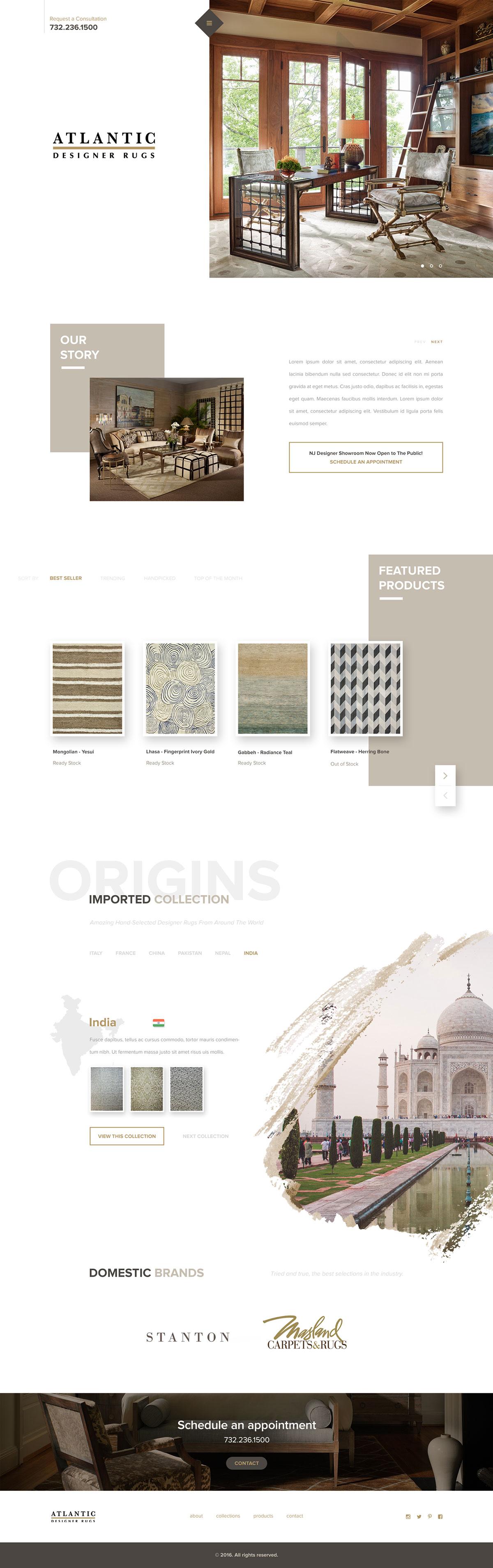 室内设计网页这样设计更显高端!