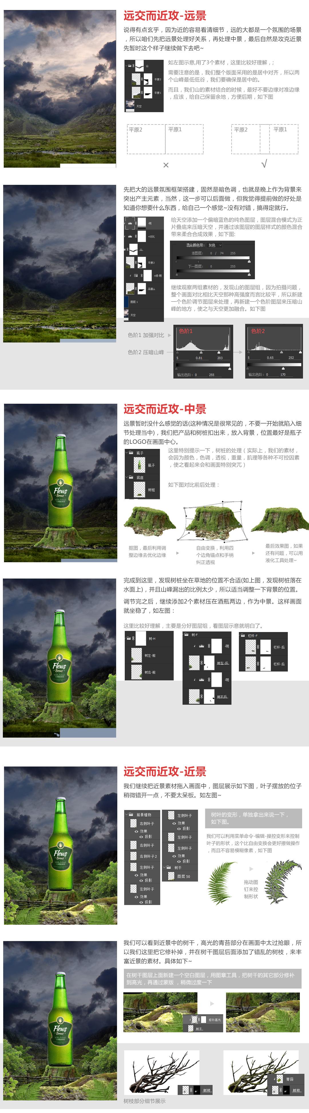 PS教程!啤酒广告海报设计合成思路解析