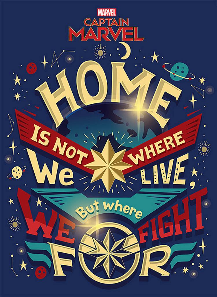 漫威超级英雄字体系列海报设计