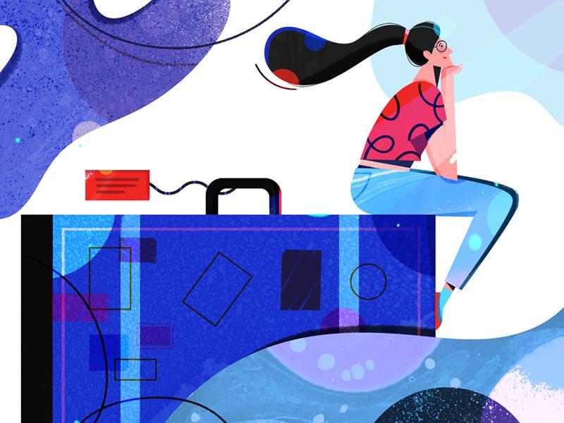 今年大热的商务风扁平插画如何绘制?