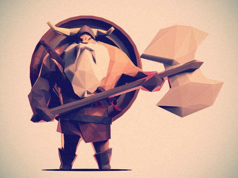 如何绘制3D低模游戏人物角色插画