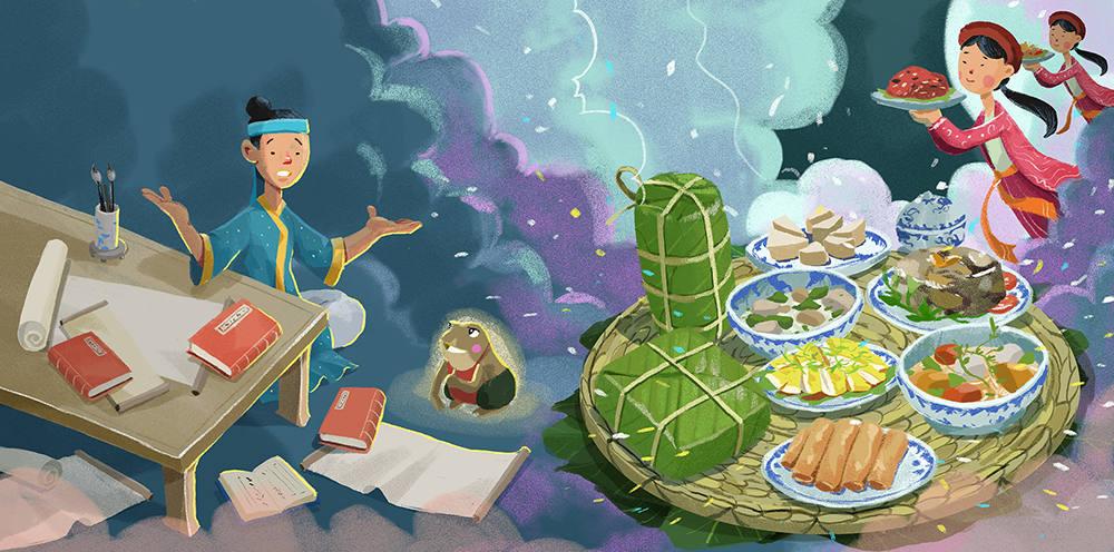 如何绘制丰富的图书插画故事场景?
