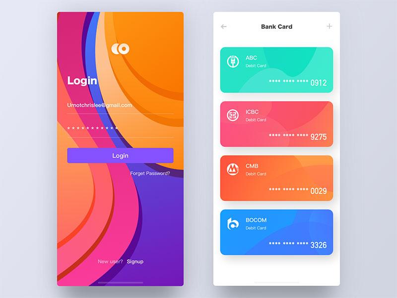金融钱包类app不会设计?这两组优秀app给你灵感