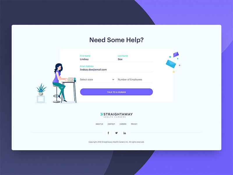 12款网站联系页面设计