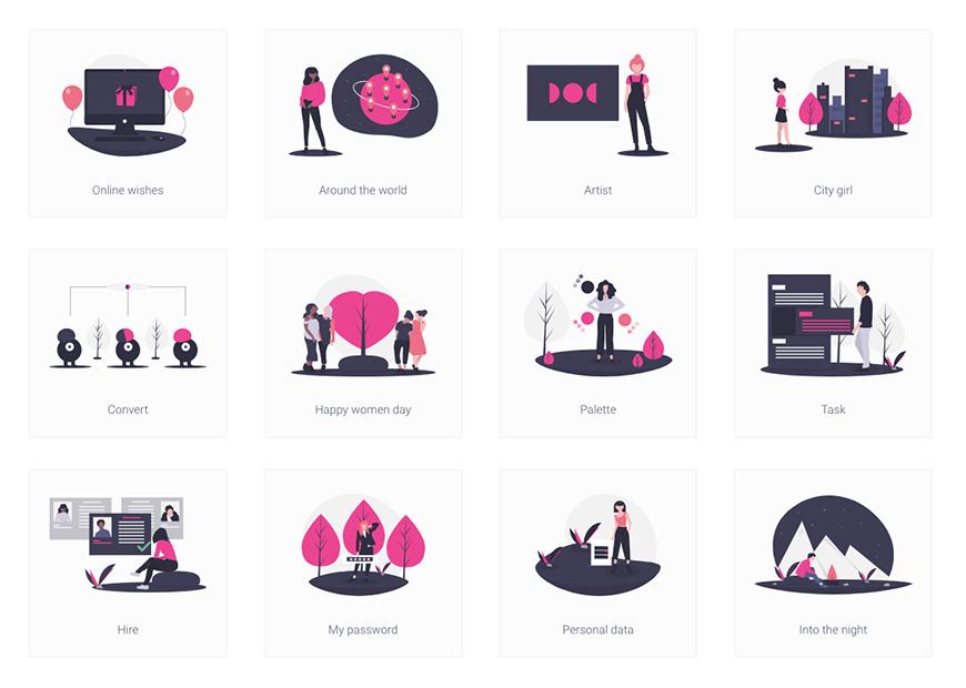 设计神器 unDraw!超过1000个免费可商用的插画素材
