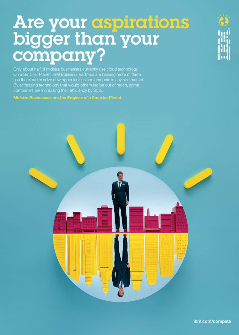 IBM公司的商业海报设计