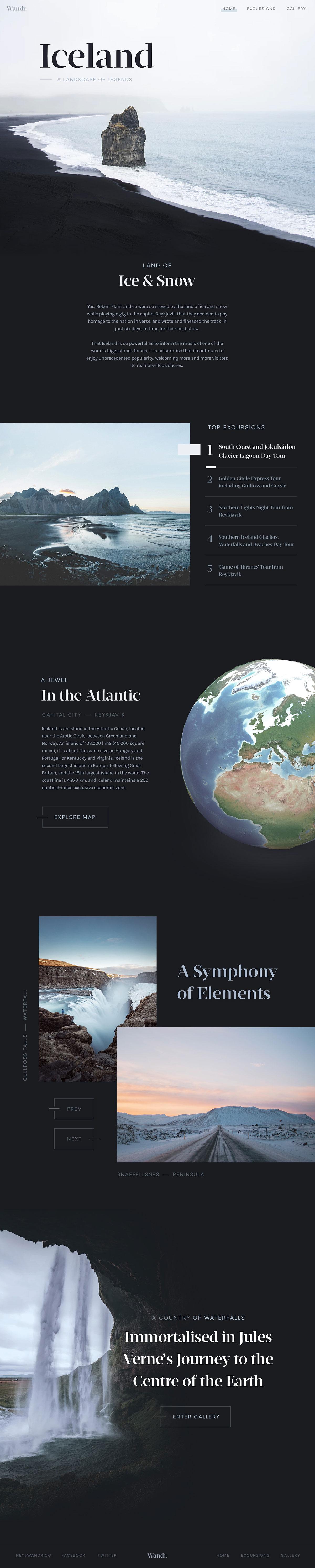 沿途的风景!13组旅行网页赏析