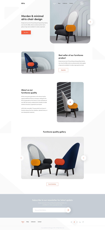 10组简洁时尚的家具网页设计