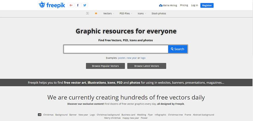 设计资源!12个免费矢量素材网站
