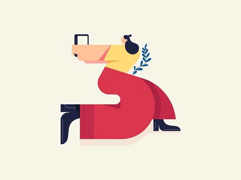 如何用简洁的形状表现人物的丰富动态?