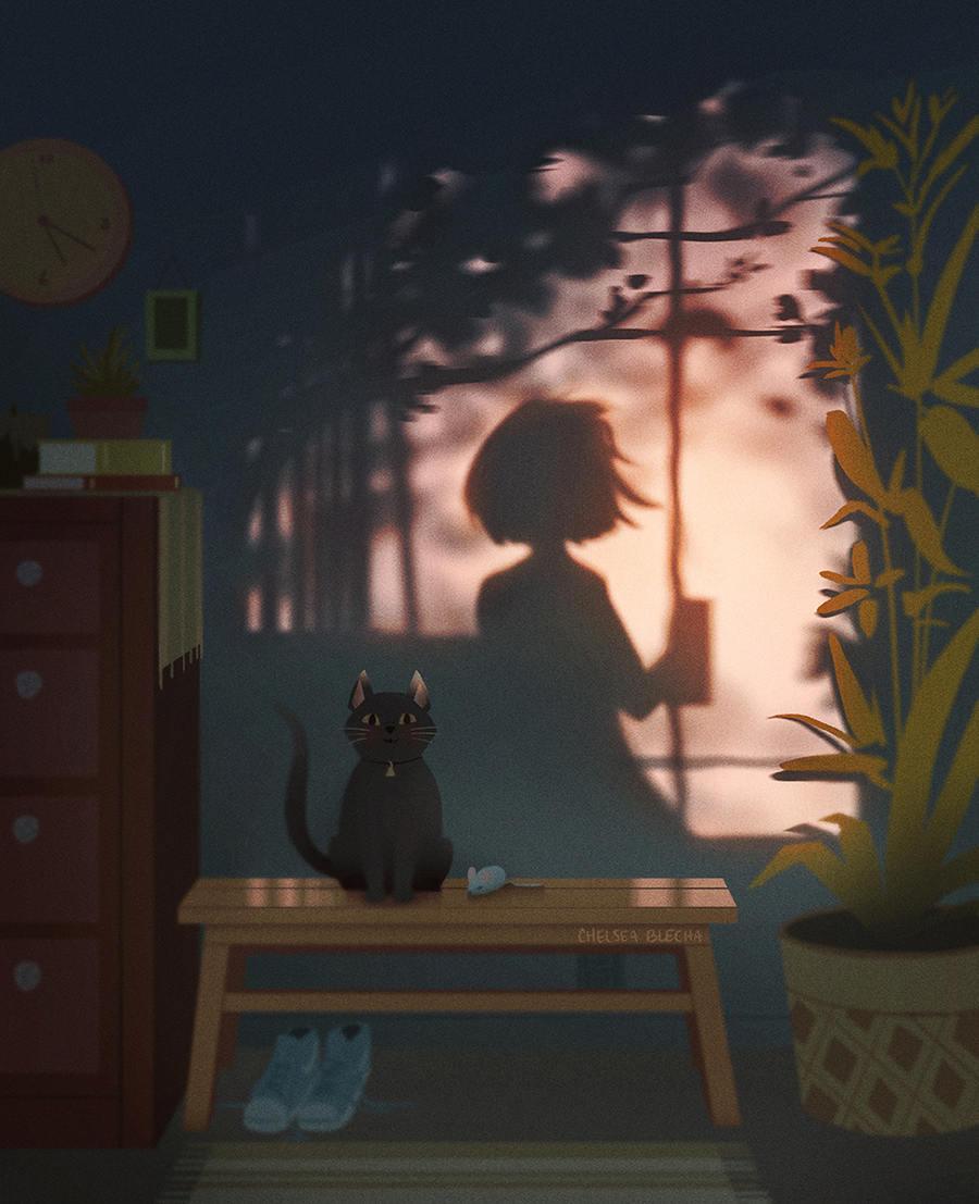 光影里的故事!一组概念插画灵感