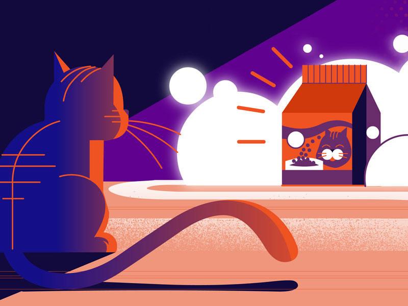 一组舒适的动画主题插画灵感