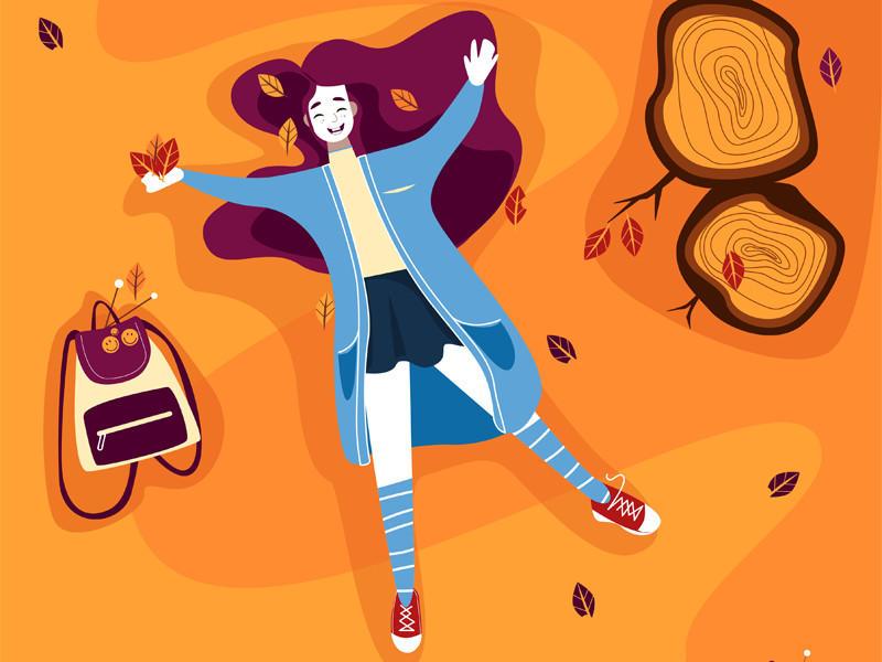 青春活力!一组网页插画灵感