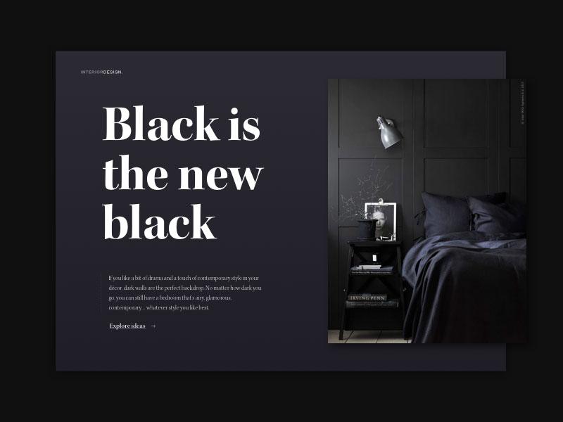 高级黑!黑色网页首图就该这样设计
