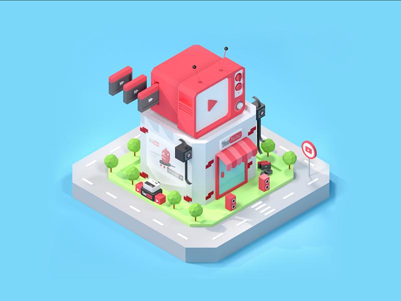 C4D教程!手把手教你制作卡通风格小房子(含素材下载)