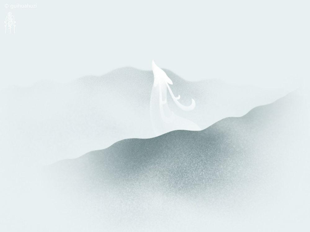 唯美意境!一组故事感极强的中国风插画