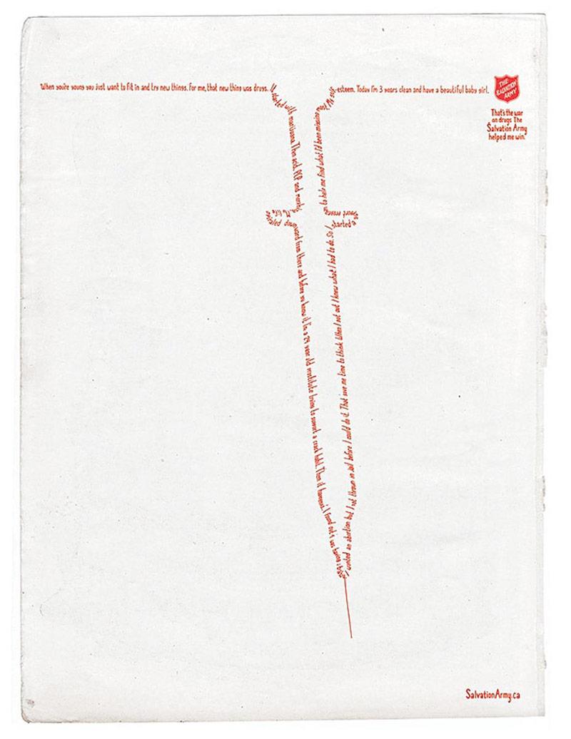 12款来自Salvation Army公益海报设计