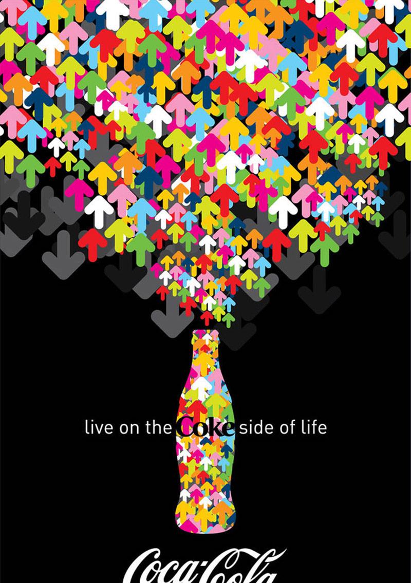 缤纷无极限!14款可口可乐广告海报设计