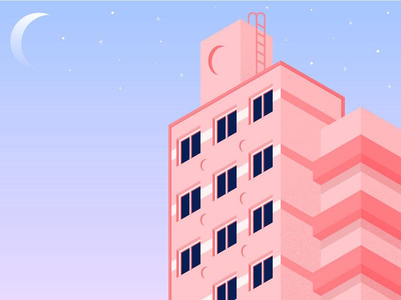 清新风格!一组风光建筑插画灵感