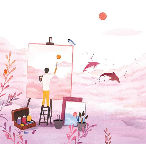 画里的故事!一组水彩插画灵感