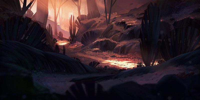 油画既视感!一组景观插画灵感
