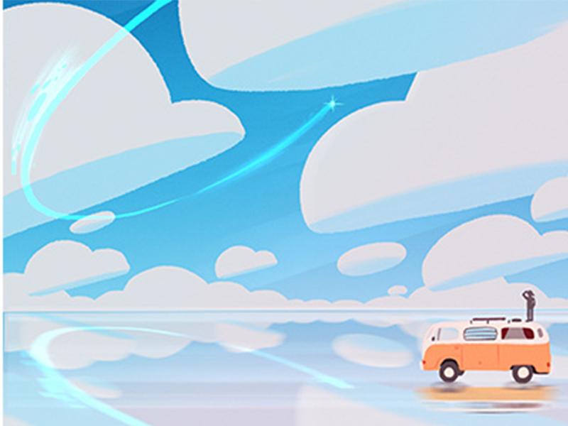 旅途里的美好!9款矢量风光插图