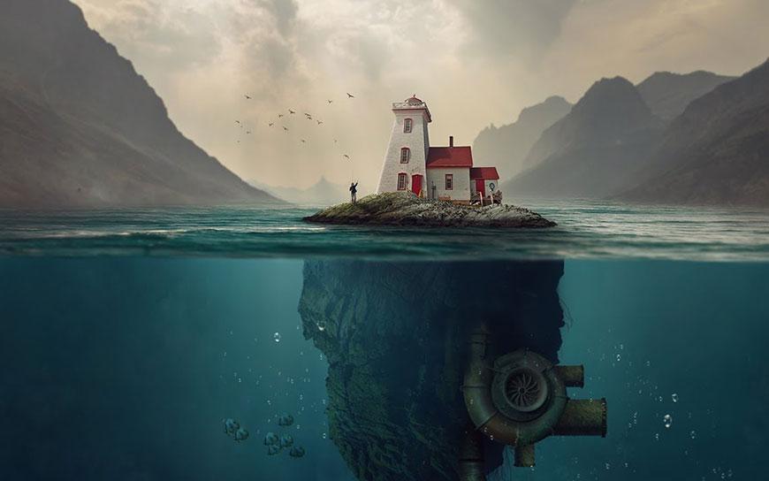 PS教程!教你合成奇异荒岛的神秘景象(含素材下载)