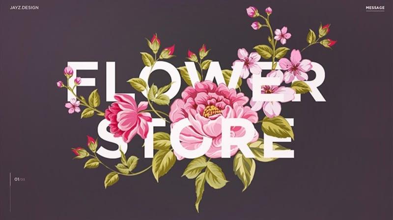 眼花缭乱!20个关于花的产品Banner设计