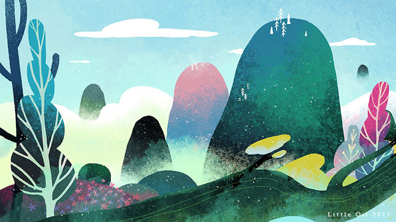 14款色彩斑斓的水彩插画灵感