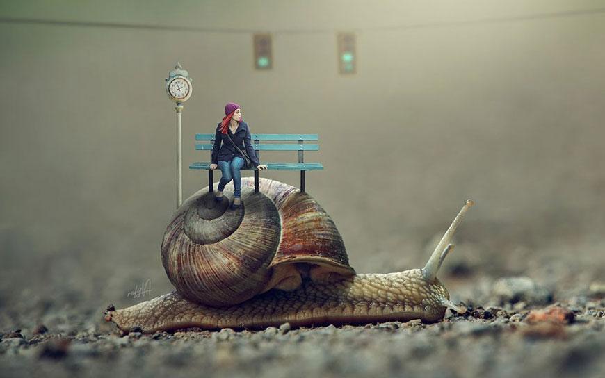 PS教程!教你合成蜗牛车站的微缩场景(含素材下载)