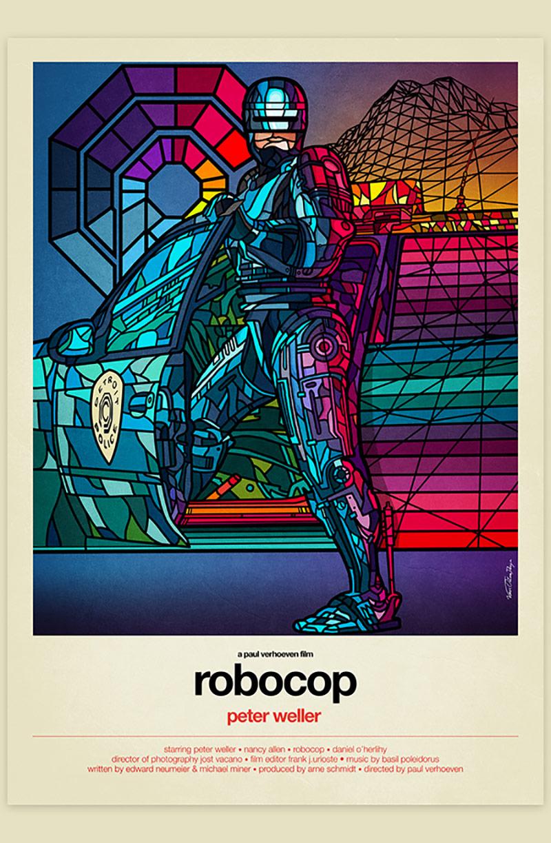几何空间艺术电影海报设计