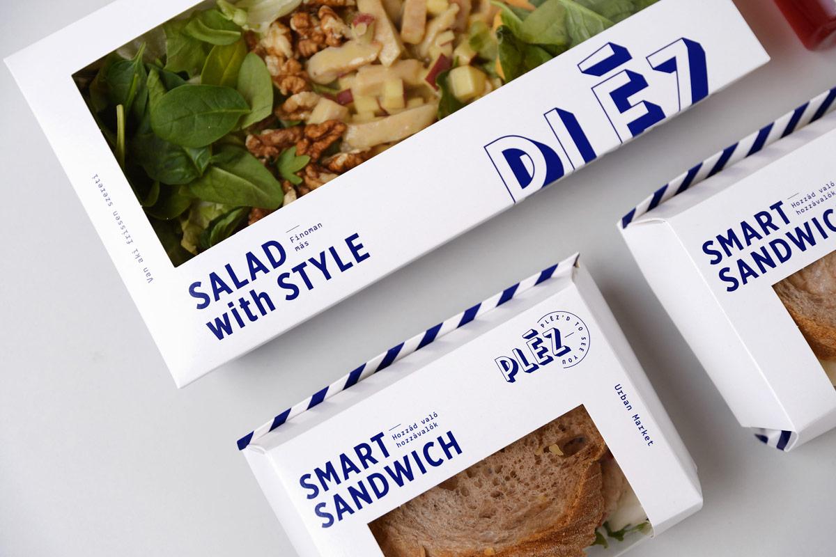 简约新鲜感!三明治轻食VI设计