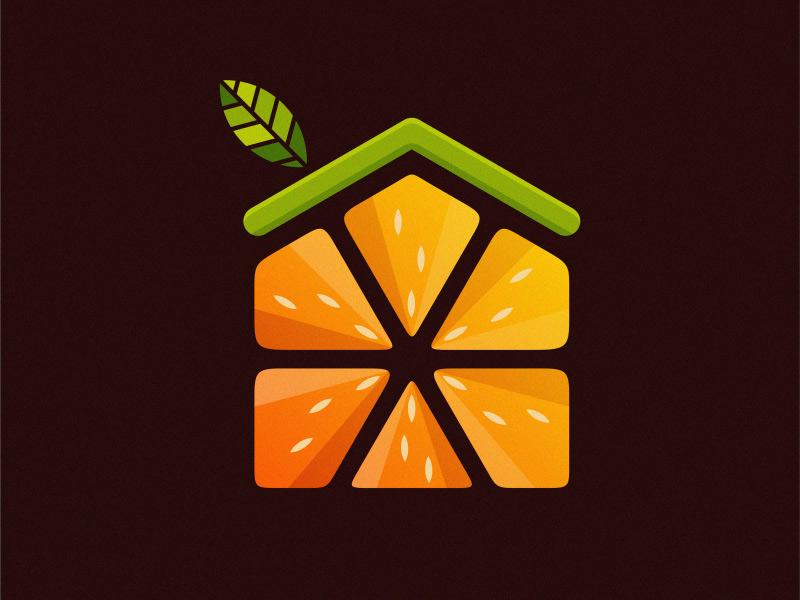 酸甜Juicy!24款橘子元素Logo设计