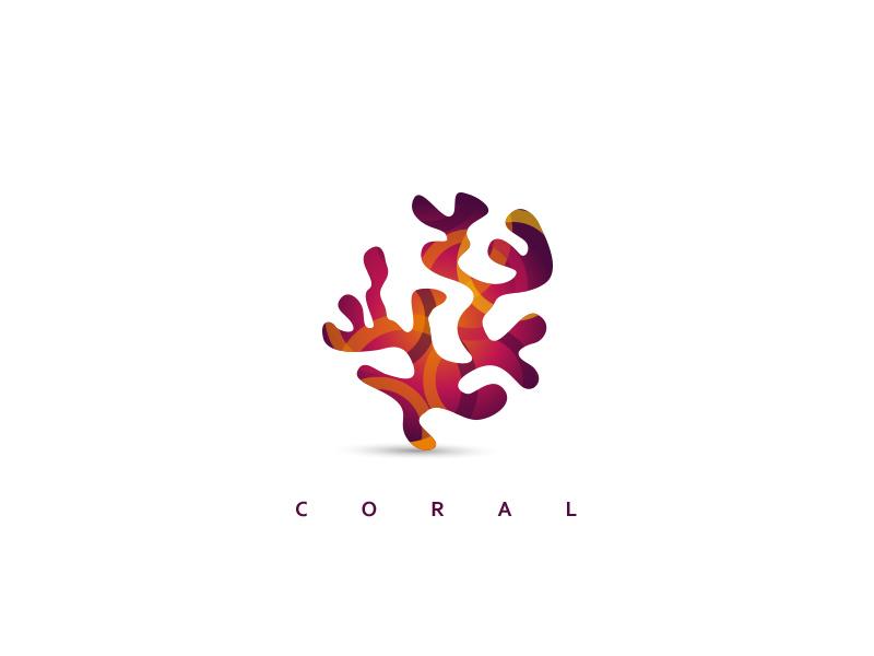 蜿蜒缤纷!34款珊瑚元素Logo设计