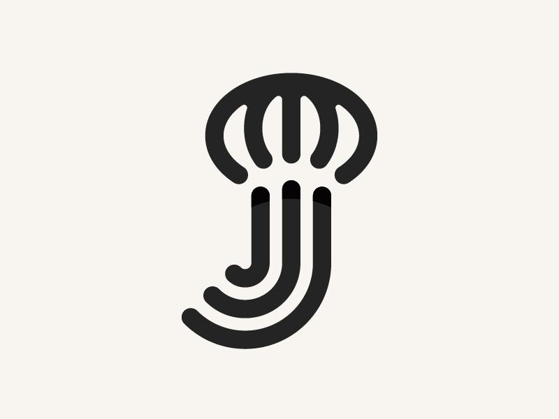 Q萌软体!36款水母元素Logo设计