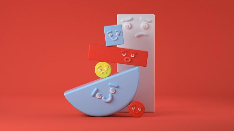 可爱爆棚!10款可爱的C4D立体插画
