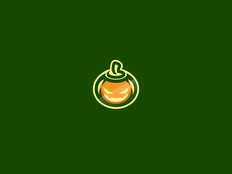 万圣节来袭!28款南瓜元素Logo设计
