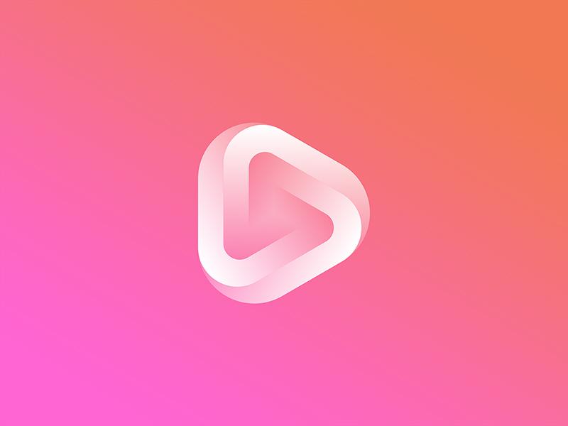 三角按钮!20款播放元素Logo设计