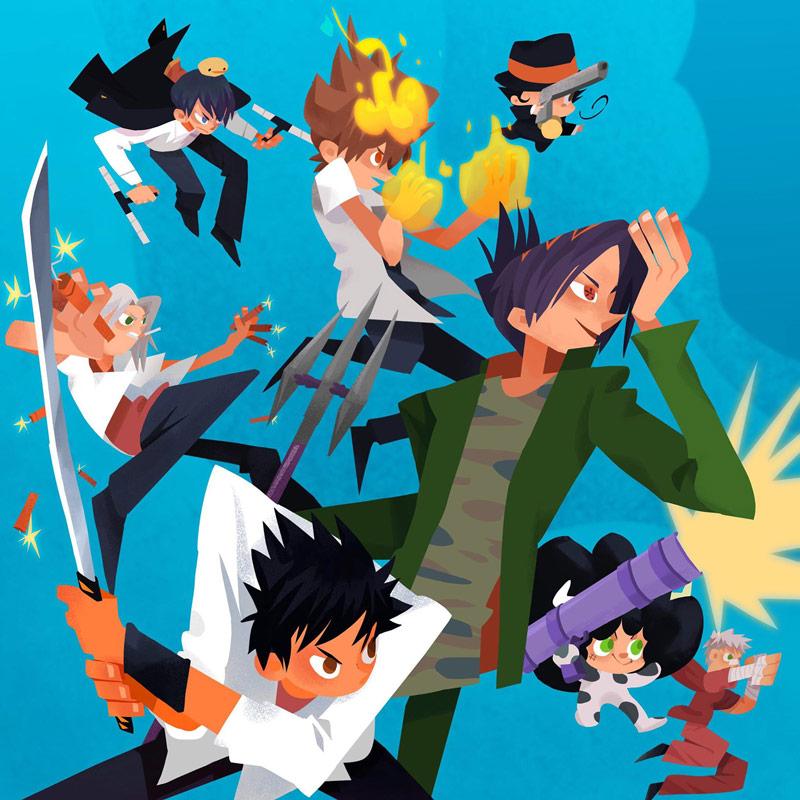 9款日式漫画风插图灵感