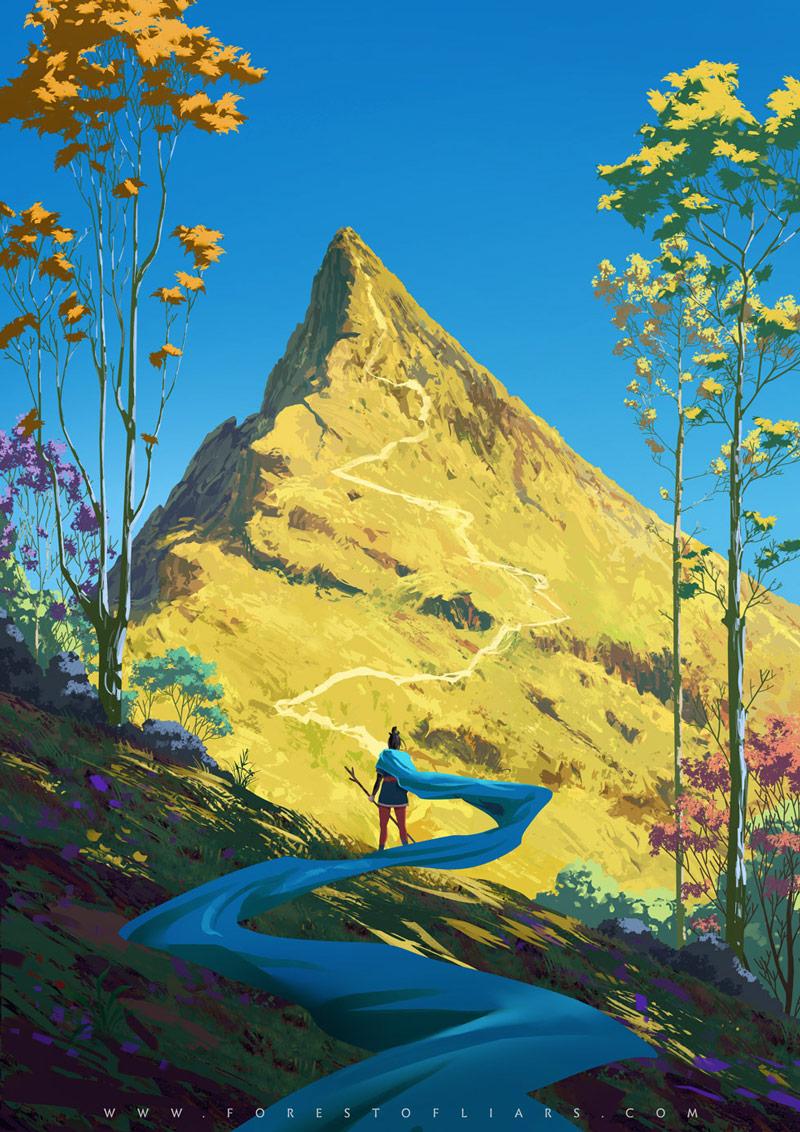 温暖神秘!10款自然场景插画