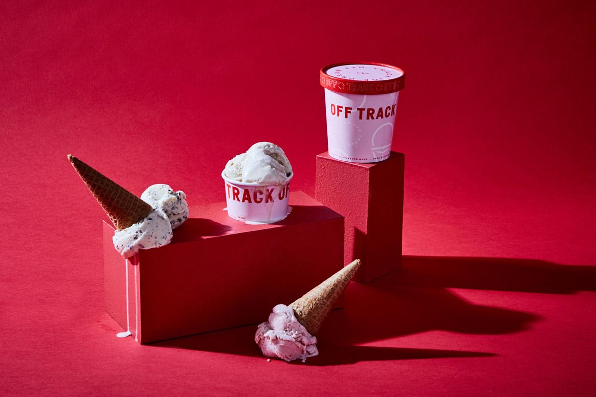 冰淇淋一般的配色!甜品店视觉VI设计