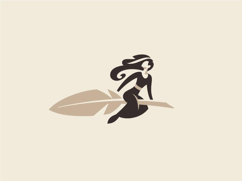 记录书写!20款笔元素Logo设计