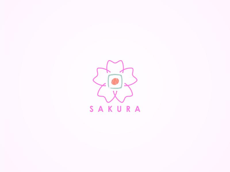 秒速5厘米!28款樱花元素Logo设计