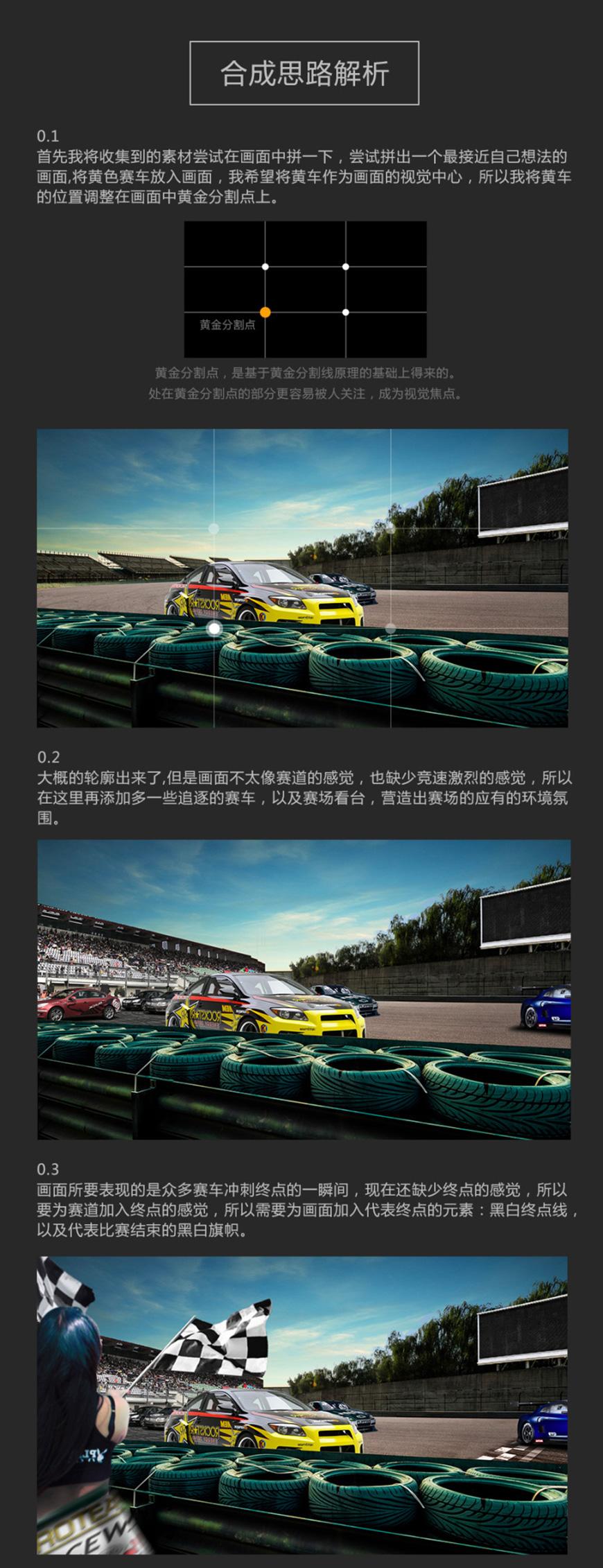 PS教程!炫酷赛车广告合成海报