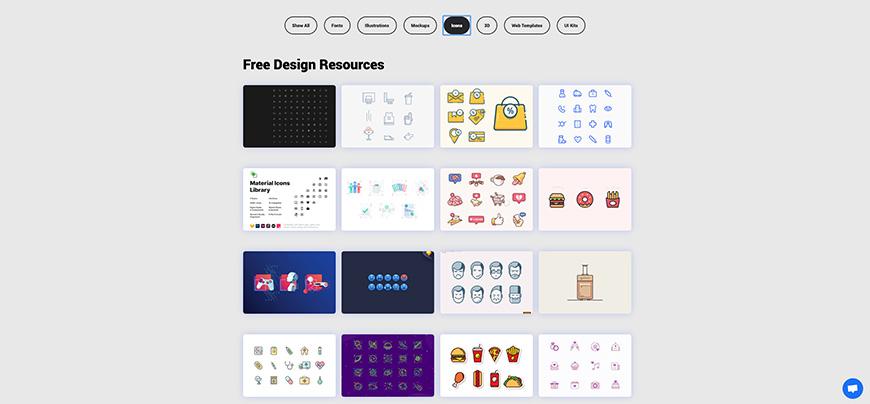 设计神器Interfacer!300+免费可商用的设计素材资源站