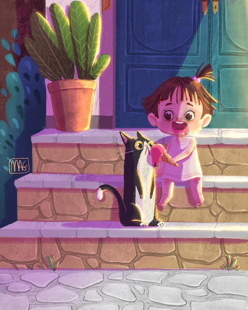最温暖的时刻!12款儿童插图