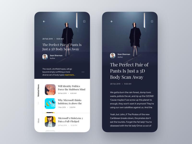 新闻大放送!12组新闻app界面设计灵感
