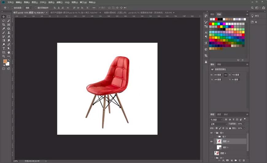 产品修图!皮质座椅修饰思路分享